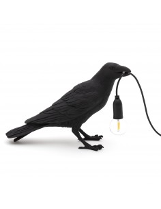 SELETTI Lampe Oiseau En Attente Intérieur Noir
