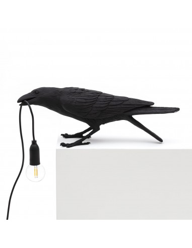SELETTI Lampe Oiseau En Jouant Intérieur Noir